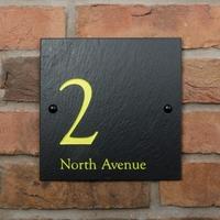 Modern Design Rustic Slate House Nameplate