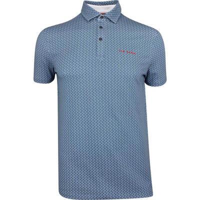 Ted Baker Golf Shirt Wallnot Print Polo Teal Blue SS19