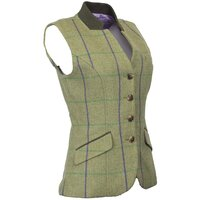 Walker & Hawkes Ladies Purple Stripe Margate Tweed Gilet / Waistcoat - 8