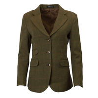 Walker & Hawkes Womens Mayland Dark Sage Tweed Blazer / Jacket - 8