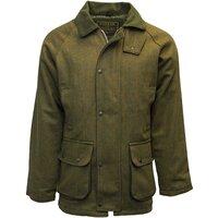 Walker & Hawkes Mens Dark Sage Tweed Shooting Country Coat / Jacket - XS