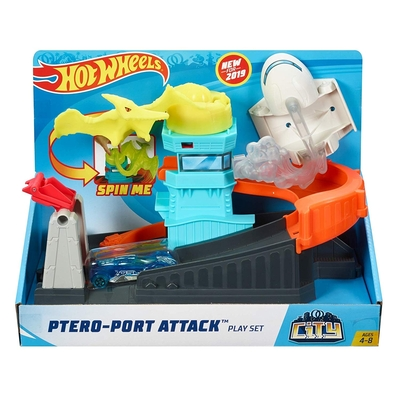 Hot Wheels City Nemesis Attack Set   Ptero Port Attack