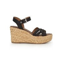 Darline Espadrille Wedge - Black