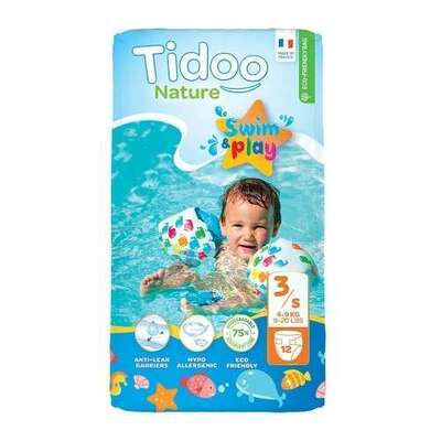 Tidoo Size 3 Swimming Nappies - 12 Nappies