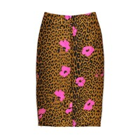 Sisters Leopard Pencil Skirt - Sesame