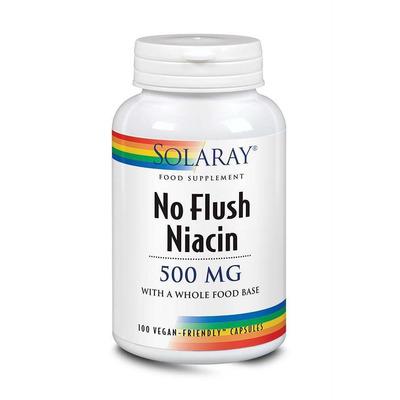 Solaray No Flush Niacin 500mg 100 Capsules