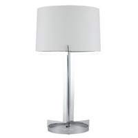 Pacific Lifestyle &pipe; Chrome Hotel Table Lamp with Round Foot Complete