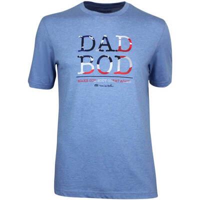 TravisMathew Golf T Shirt Dad Bod Heather Blue SS19