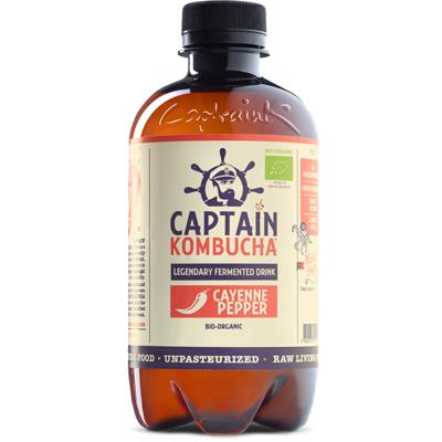 Captain Kombucha Bio-Organic Cayenne Pepper Kombucha 400ml