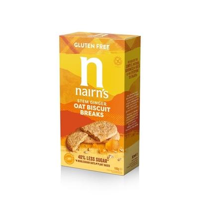 Nairn's Gluten Free Oat & Stem Ginger Biscuit Breaks 160g