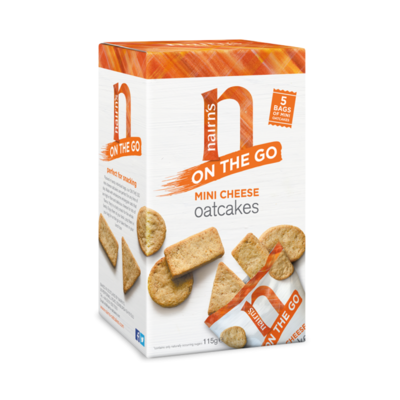 Nairn's On The Go Mini Cheese Oatcakes 115g