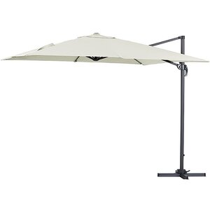 Harbo Taupe Roma 3m x 3m Square Cantilever Garden Parasol