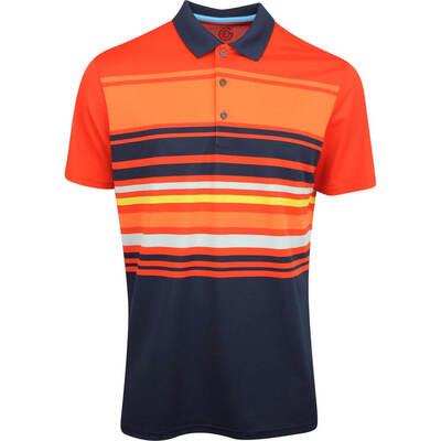 Galvin Green Golf Shirt Miguel Rusty Orange AW19