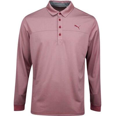 PUMA Golf Shirt Long Sleeve Polo Rhubarb Heather AW19