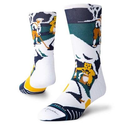 Stance Golf Socks Nicklaus Crew White 2019