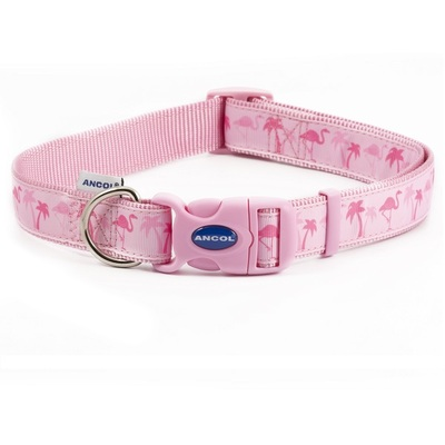 Ancol Pink Flamingo Adjustable Dog Fashion Collar