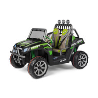 Peg Perego Polaris Ranger RZR Green Shadow Kids Off Road 24v Ride On Quad