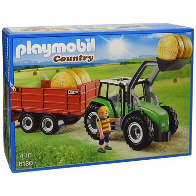 Playmobil Country Large Tractor With Trailer