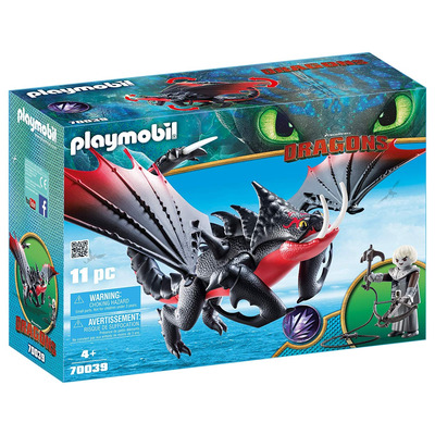 Playmobil DreamWorks Dragons Deathgripper With Grimmel
