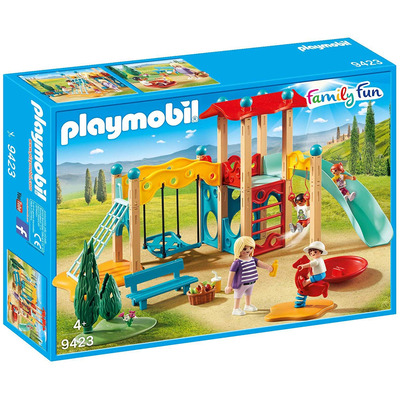 Playmobil Family Fun Park Playground With Watchtower