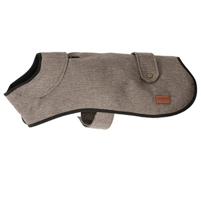 Ancol Heritage Brown Herringbone Dog Coat
