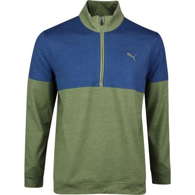 PUMA Golf Pullover Warm Up QZ Deep Lichen Green SS20