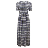 Adamaris Dress - Cream & Navy Check