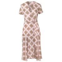 Klea Midi Wrap Dress - Foulard