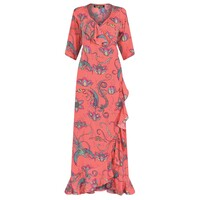 Flamenco Maxi Dress - Coral