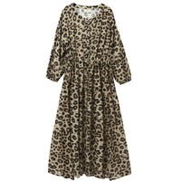 Frances Maxi Dress - Muted Cheetah