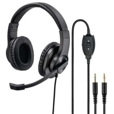 Hama HS-P300 PC 3.5mm Headset, Stereo, Black with Microphone (00139925)