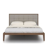 Twenty10 Designs &pipe; Calla Kingsize Bed - Stone Linen Headboard