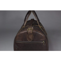 Male Leather Weekender Bag - Handmade Moroccan Travel Bag | Harfi