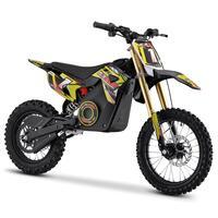 Image of FunBikes MXR 1500w 48v Lithium Electric 14/12 68cm Yellow Kids Dirt Bike