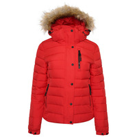 Classic Faux Fur Fuji Jacket - High Risk Red - 8