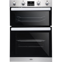 Belling BI902MFCT Double Built In Electric Oven, Stainless Steel