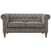 Multi Tweed 2 Seater Chesterfield Sofa