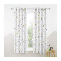 Catherine Lansfield Roarsome Animals, Kids Blackout Curtains Set 72s