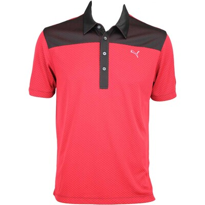 Puma Diamond Block Golf Shirt Tango Red AW15