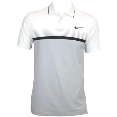 Nike MDRN Momentum Fly Stripe Golf Shirt Wolf Grey AW15