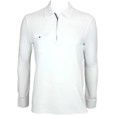 Galvin Green Martin Long Sleeve Golf Shirt White AW15
