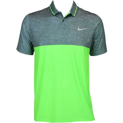 Nike Modern Fit Momentum Camo Golf Shirt Green Strike AW15