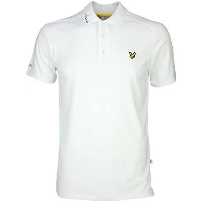 Lyle Scott Golf Shirt Hawick Tech Tour White SS17