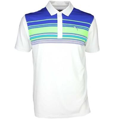 Puma Golf Shirt Key Stripe White Surf the Web SS16