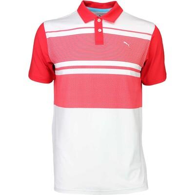 Puma Golf Shirt Pattern Block High Risk Red SS16