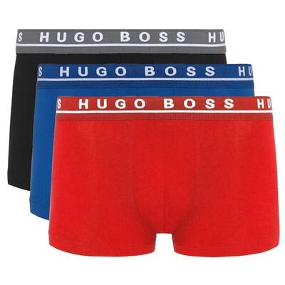 Hugo Boss Boxer Shorts 3 Pack Red Blue Black SP16