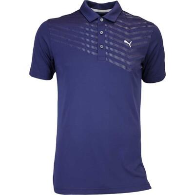 Puma Golf Shirt Prism Stripe Peacoat AW16