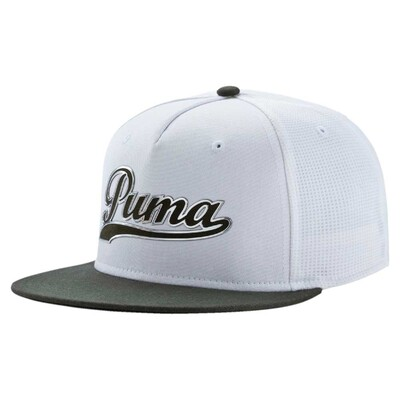 Puma Golf Cap Script Snapback White Forest Night AW16