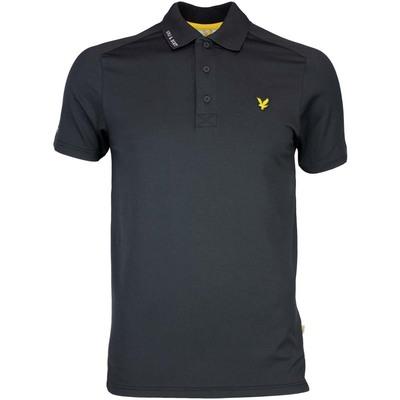 Lyle Scott Golf Shirt Hawick Tech Tour True Black SS17