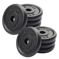 Image of DKN Cast Iron Standard Weight Plates - 8 x 2.5kg
